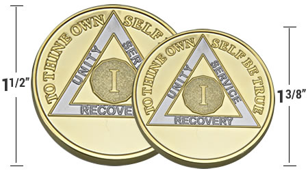 aa medallions in traditional and other sizes