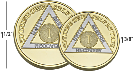 Traditional vs Challenge Coin Size