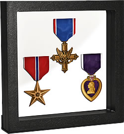 Frame with medals