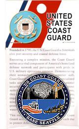 "COAST GUARD BASE SEATTLE 1.75/"" CHALLENGE COIN"