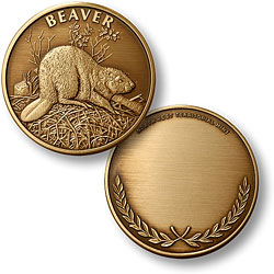 Beaver Bronze Antique