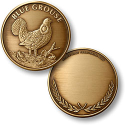 Blue Grouse Bronze Antique