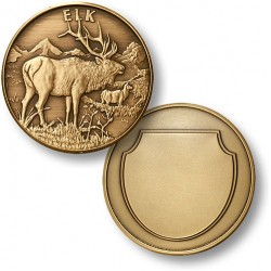 Elk Bronze Antique