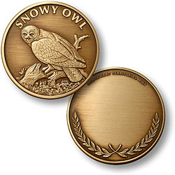 Snowy Owl Bronze Antique