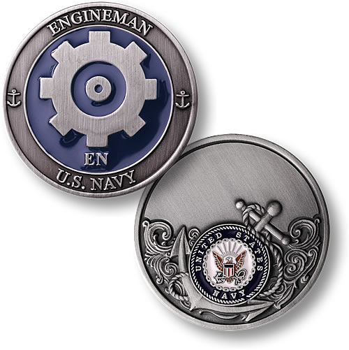 engineman enamel coin