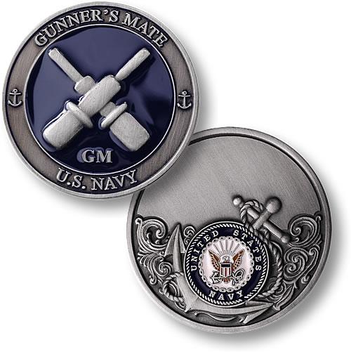 gunner's mate - enamel - coin
