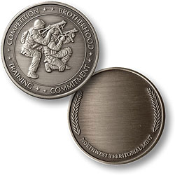 SWAT 2 with Wreath Nickel Antique