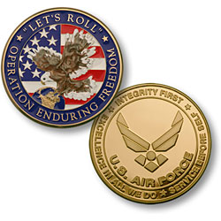 Enduring Freedom - Air Force Emblem MerlinGold®