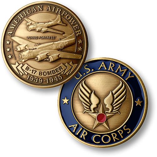 B-17 Army Air Corps Bronze Antique