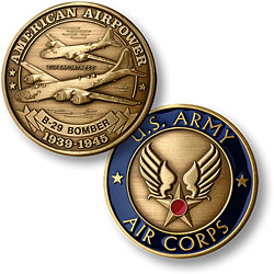 B-29 Army Air Corps Bronze Antique