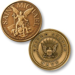 Saint Michael - Navy Bronze Antique