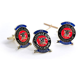 NRA Life Tie Tack & Cuff Link Set