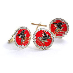 NRA White Eagle Tie Tack & Cuff Link Set