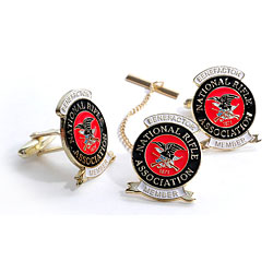 NRA Benefactor Tie Tack & Cuff Link Set
