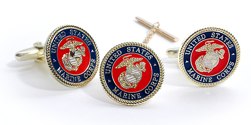 USMC cufflinks Marine Corps Eagle Cuff Links in Presentation Gift Box