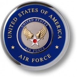 Air Force Hap Arnold Wing Chrome Coaster