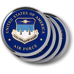 Air Force Academy Chrome 4 Coaster Set