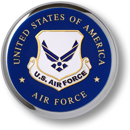 Air Force Emblem https://store.nwtmint.com/product_details/1531/Air_Force_Emblem_Chrome_Coaster/