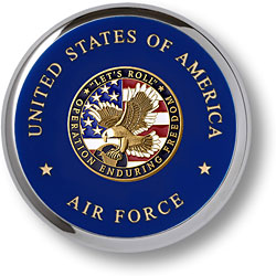 Air Force Enduring Freedom Chrome Coaster