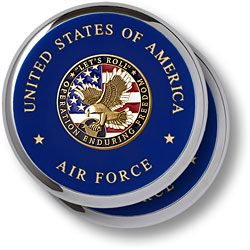 Air Force Enduring Freedom Chrome 2 Coaster Set