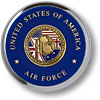 Air Force Iraqi Freedom Chrome Coaster