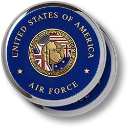 Air Force Iraqi Freedom Chrome 2 Coaster Set