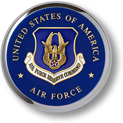 Air Force Reserve Chrome Coaster