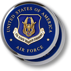 Air Force Reserve Chrome 2 Coaster Set