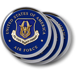 Air Force Reserve Chrome 4 Coaster Set