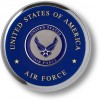 Air Force Seal Chrome Coaster