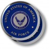 Air Force Seal Chrome 2 Coaster Set