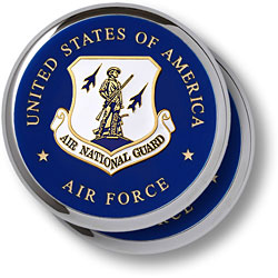 Air National Guard Chrome 2 Coaster Set