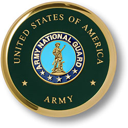 Army National Guard Brass Coaster