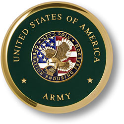Army Enduring Freedom Brass Coaster