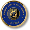 Air Force POW MIA Brass Coaster