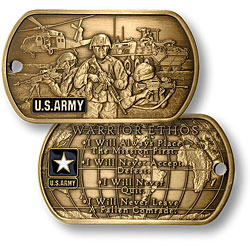 U.S. Army Warrior Ethos Dog Tag