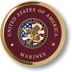 Marine Operation Enduring Freedom Brass Coaster