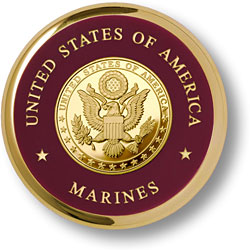 Marine Great Seal Brass Coaster