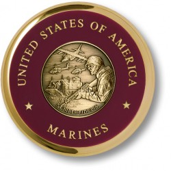 Marine Theme Brass Coaster