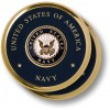 Navy Seal Brass 2 Coaster Set
