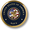 Navy Operation Enduring Freedom Brass Coaster
