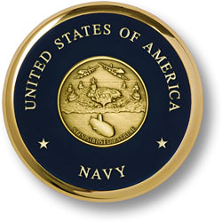 Navy Theme Brass Coaster