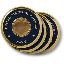 Sailors Creed Brass 4 Coaster Set