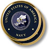 Navy SeaBee Brass 2 Coaster Set