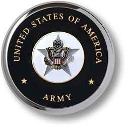 U.S. Army General Staff Chrome Coaster