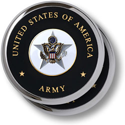 U.S. Army General Staff Chrome 2 Coaster Set
