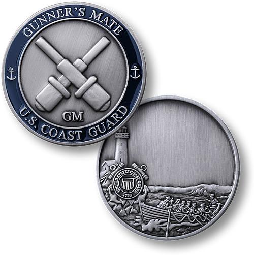 coast guard gunners mate - coin