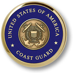 Coast Guard Shield Coaster