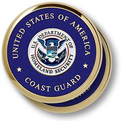 Coast Guard Homeland Security 2 Coaster Set
