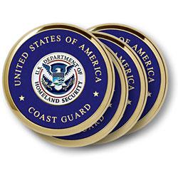 Coast Guard Homeland Security 4 Coaster Set